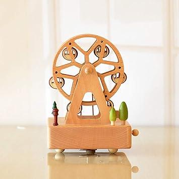 Christmas Ferris Wheel Music Box.Amazon Com Nqxxn Musical Box Wooden Round Ferris Wheel