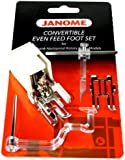 Janome Convertible Even Feed Foot Set Low Shank Horizontal Rotary Hook Models