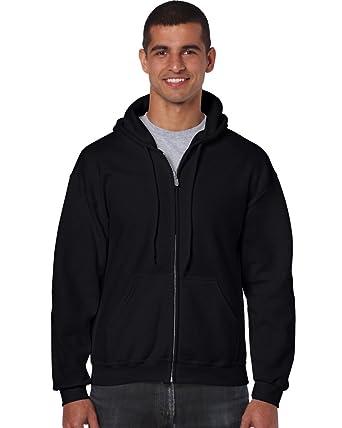 Gildan heavy weight full Zip sudadera con capucha S, Colour negro: Amazon.es: Deportes y aire libre