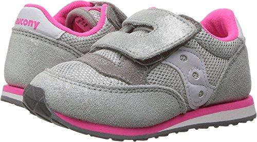 - Saucony Jazz Hook & Loop Sneaker (Toddler/Little Kid), Silver/Pink, 12 M US Little Kid