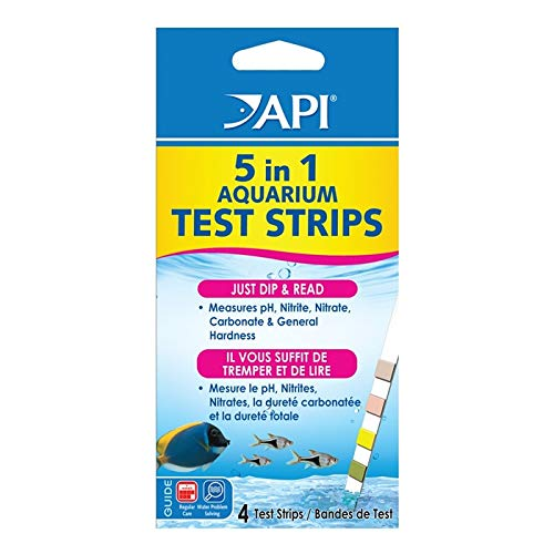 25 Ct Crucial Popular 5 in 1 Aquarium Test Strips Results in Seconds Sensitive Indicator Fish Tank with Colors Chart (Api 5 In 1 Test Strips Chart)