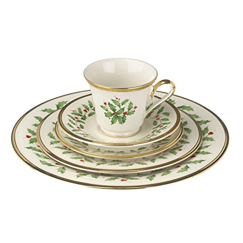 091709201096 - Lenox Holiday 5-Piece Place Setting,Ivory carousel main 2