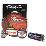 Rockford Fosgate RFK1 1/0 Gauge 100% OFC Copper Amplifier Kit+4 Farad Capacitor