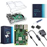 V-Kits Raspberry Pi 3 B+ (B Plus) with Dual Clear Case and 2.5A Power Supply [Latest Model]