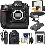 Nikon D5 Digital SLR Camera Body (Dual XQD Slots) 128GB Card & Reader + LED Video Light + Microphone + Backpack + Remote + Kit