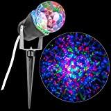 Solayman Tech LED Projection Red Green Blue Kaleidoscope Spot Light