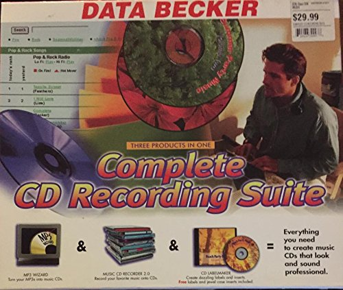 DATA Becker Complete CD Recording Suite Three products in One MP3 Wizard Music Recorder Turn Vinyl and Cassettes into CD's 2.0 CD Label Maker Create Inserts, and Jewel ()