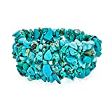 Bling Jewelry Blue Stabilized Turquoise Chip Stone