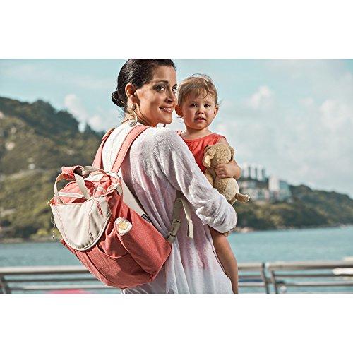 Urban Sumo Messenger Diaper Bag & Backpack By Okiedog (Coral) by okiedog (Image #2)