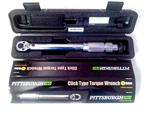 (1/4 Inch Professional Drive Click Type Ratcheting Torque Wrench U06702)
