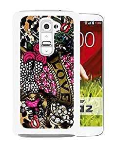 Unique And Fashionable Designed Cover Case For LG G2 With Betsey Johnson 16 White Phone Case
