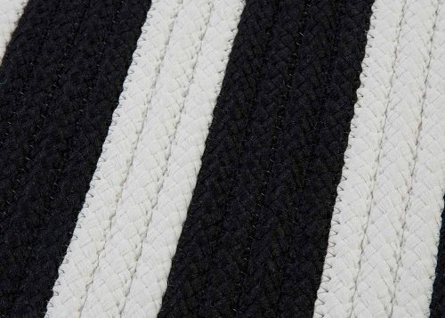 Black Amp White Striped Braided Rug 2ft X 3ft Soft