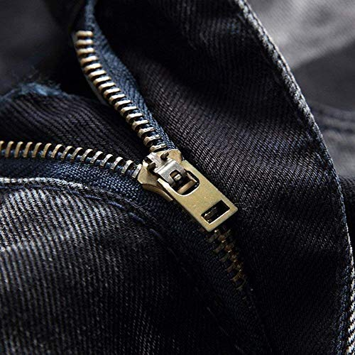 Denim Abbigliamento Stretch Media Casual Jeans Pantaloni Nero Fit Uomo Da Vita Regular Streetwear Skinny Di In A Denem WWa8CqR