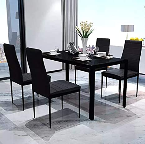 AEVOBAS vidaxl Mesa de Comedor, Juego de Mesa y sillas para Comedor ...