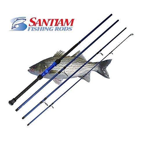 Santiam Fishing Rods Travel Rod 4 Piece 9'0'' 12-25lb Surf Rod by Santiam Fishing Rods