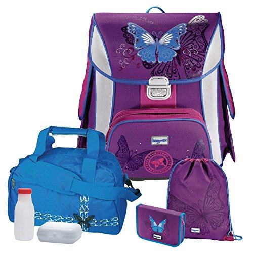 Butterfly Schmetterling Leicht-Schulranzen Set Baggymax Hama 6tlg. mit SCHULSPORTTASCHE