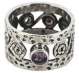 M/s Gajraj Genuine Amethyst Gemstone 92.5 Sterling Silver Ring, US-11