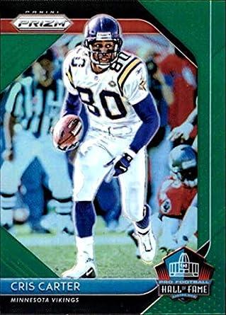 06b3926c4 2018 Panini Prizm Hall of Fame Prizm Green #28 Cris Carter Minnesota  Vikings NFL Football