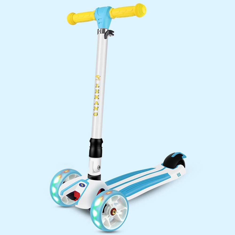Runplayer 子供、男性または女性のためのフラッシュ付き3輪ワンショルダースクーター B07QYZ3PCZ ( Color ) : ( Blue ) B07QYZ3PCZ, ステーキのあさくま:c4b1248f --- spb.windocs.ru