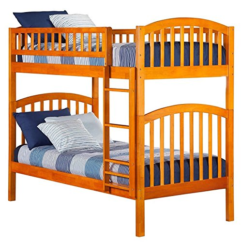 Cheap Richland Bunk Bed, Twin Over Twin, Caramel Latte