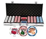 DA VINCI Premium Set of Welcome to Las Vegas Poker Chips with Case, Cards, Dice