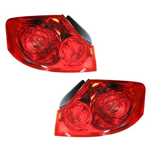 G35 4 Door Sedan - Taillight Taillamp Left & Right Pair Set for Infiniti G25 G35 G37 4 Door Sedan