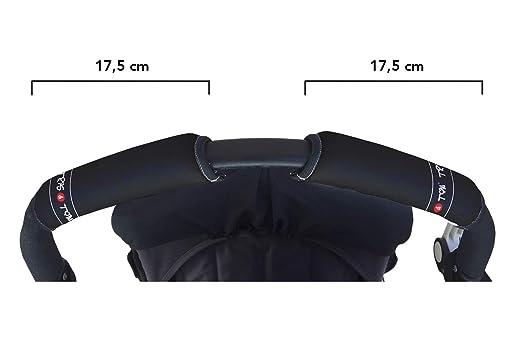 Tris&Ton Fundas empuñaduras horizontal doble modelo, empuñadura funda para silla de paseo cochecito carrito carro (Diversos modelos) (Tris y Ton)