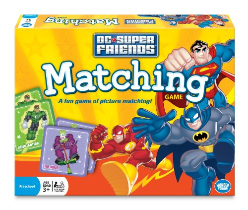 What to buy a 5 year old boy birthday? Super Friends Matching Game