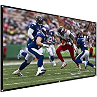 Varmax Portable Projector Screen for Home and Outdoor Movie and Presentation 100 inch 16:9