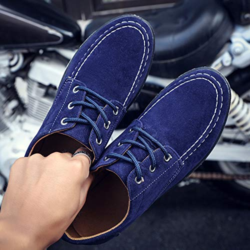 kaki Plain uomo per Blu marrone 39 EU Derby Sole classiche Dimensione Colore Scarpe Toe Blu ZHRUI stringate Soft nero X1wPqg