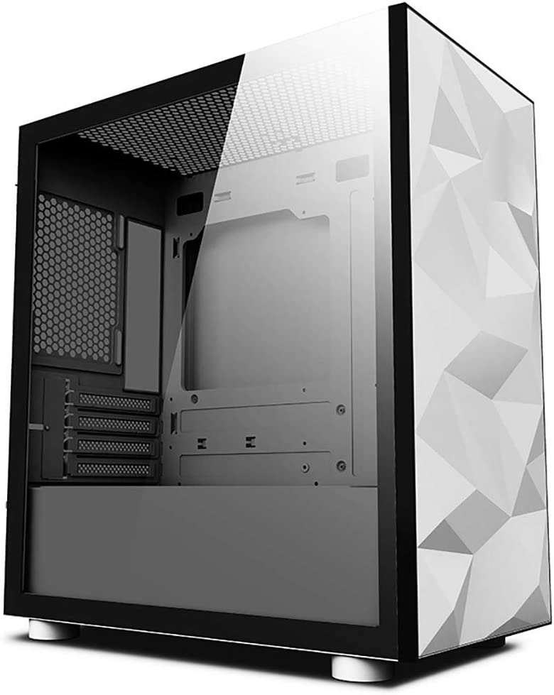 ITX//M-ATX XZ15 White Tempered Glass Medium Tower PC Gaming case 5x120mm Cooling Fan System Color : White Water Cooled Ready