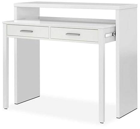 PEGANE - Mesa Consola Extensible Color Blanco Artik - 87 x 98 x 36 ...