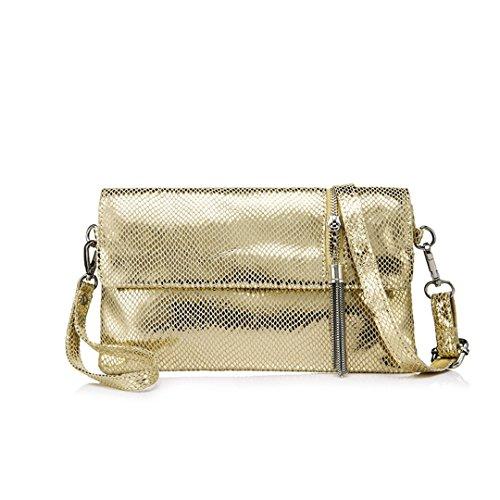 Messenger Bag Bag Handbag Women Gold Clutch Shoulder Female Ladies Leather With xwPa7q01n