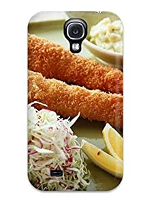 Fashionable PJlqzfZ761akJUn Galaxy S4 Case Cover For Fried And Breaded Shrimp Barbecue Food Other Protective Case