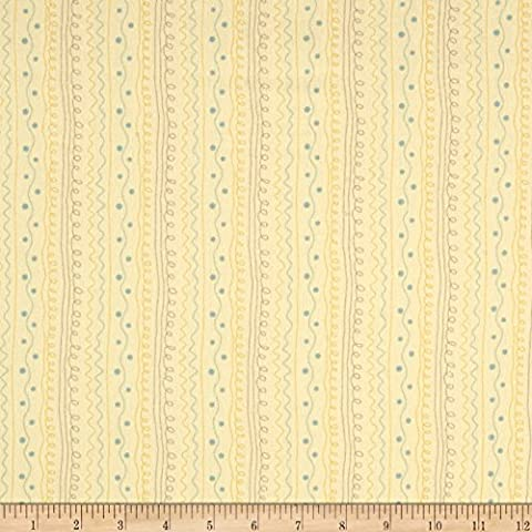 Moda Corner of 5th & Fun Stripe Flannel Sunshine Fabric By The Yard - Shine Flannel