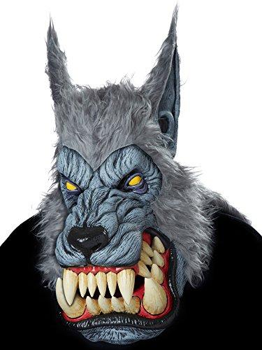 [Lunar Psycho Werewolf Ani-Motion Mask] (Wolf Costume Halloween Express)