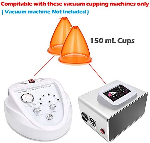Vacuum Cupping Machine Accessories, Vacuum Therapy Suction Cups, UNOISETION 150ml Mega Butt Cups, Premium Extra-Large Vacuum Cups for Buttock Lift Body Massage, 1 Pair