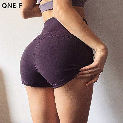 MAYUAN520 Frauen Yoga Shorts mit hoher Taille Bauch Control Fitness Workout Sportswear Sexy Push Up Yoga Shorts Sommer