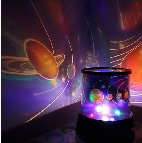Kids Love Dark Sky Univers Night Light Lamp Projector Solar System by Unbranded*