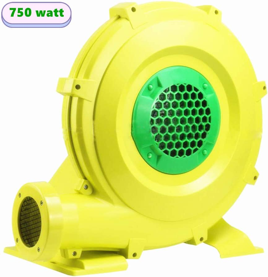 Inflatable Blower 750 Watt Bounce House Blower, 1 HP Air Blower for Inflatable Castle and Jump Slides, Portable and Powerful Inflatable Blower Fan Pump