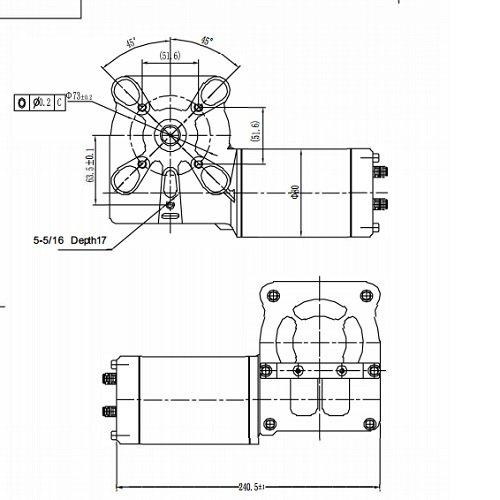 tarp gear 12 volt dc motor 5 bolt mounts 600w 0 8hp amazon com rh amazon com
