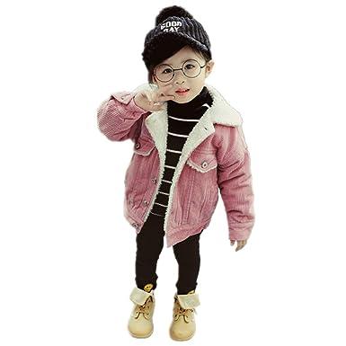 Toddler Boys Girls Winter Denim Jacket Add Wool Thicken Warm Chaqueta Outerwear