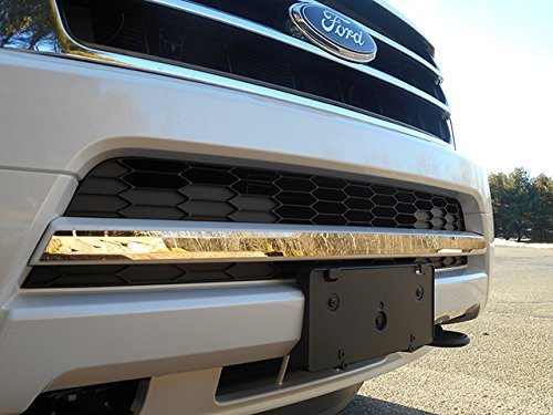 QAA FITS EXPEDITION 2015-2017 FORD (1 Pc: Stainless Steel Grille Lower Accent Trim, 1.25