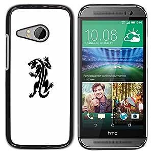 For HTC ONE MINI 2 / M8 MINI Case , Monster Tattoo Ink Decal White - Diseño Patrón Teléfono Caso Cubierta Case Bumper Duro Protección Case Cover Funda