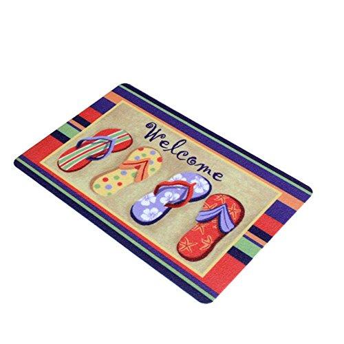 welcome-cute-flip-flop-art-polypropylene-Indoor-Outdoor-Doormat-Door-Mat-175W-x295L