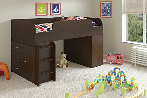 Cosco Elements Loft Bed Twin With Two  Drawer Dressers