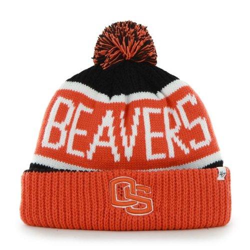 - '47 Oregon State Beavers Orange Cuff Calgary Beanie Hat with Pom - NCAA Cuffed Winter Knit Toque Cap