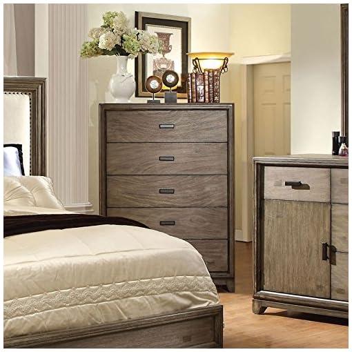 Bedroom 247SHOPATHOME Bedroom set, California king, Oak modern bedroom furniture sets
