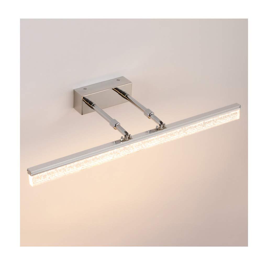 badezimmerlampe Spiegel Front Light Edelstahl Acryl LED Spiegel Cabinet Light (40-150CM) (Farbe   Warmes Licht-8W 40CM)