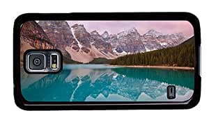 Hipster Samsung Galaxy S5 Case funny Mountain Lake PC Black for Samsung S5